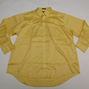 IZOD 18 34/35 Yellow Button Down Shirt  Cotton